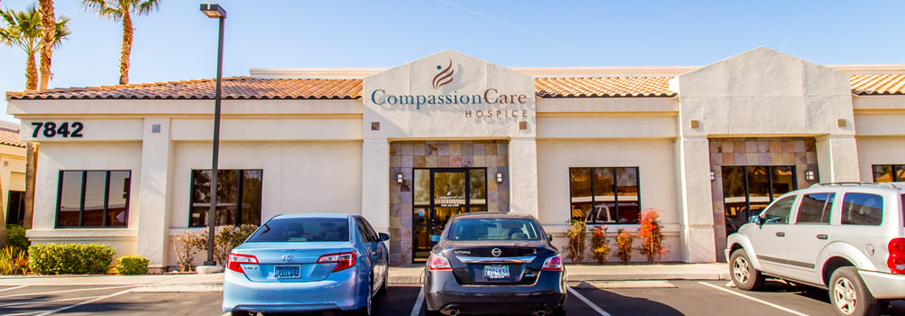 Front of Physical Location of CompassionCare Hospice in Las Vegas, Nevada