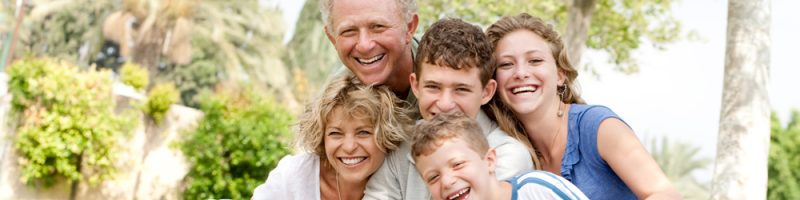 Grandparents enjoying time with their grandchildren - CompassionCare Hospice of Las Vegas, Nevada