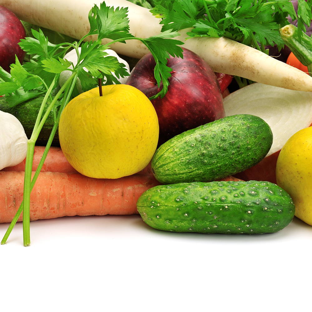 Fruits and vegetables - eating healthy as a senior