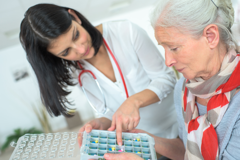 Pills arranger for each day with times for medical safety